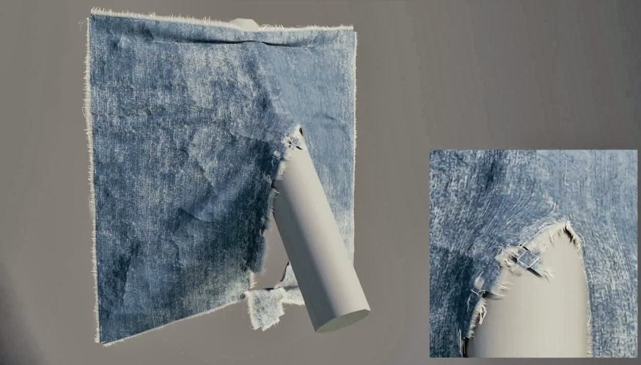 download houdini cloth tear detailing project