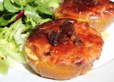 manzanas con foie