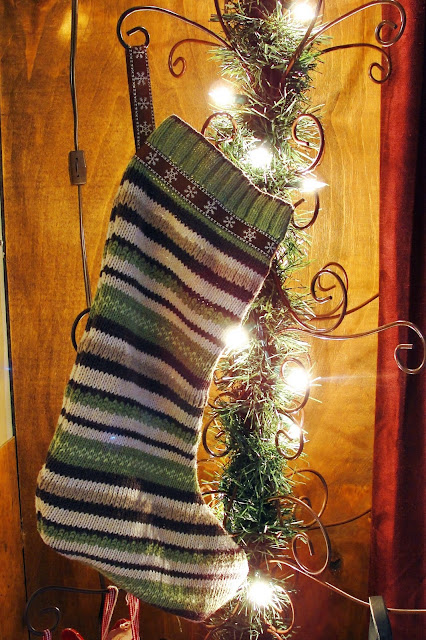 christmas stocking from sweater