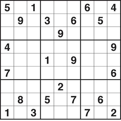 Bewitching image in sudoku printable medium