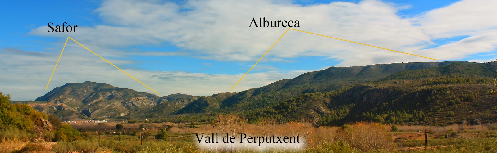 Vall de Perputxent, Safor, Albureca
