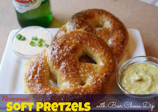 Homemade Soft Pretzels w/Beer Cheese Dip Recipe