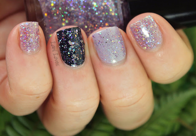 Femme Fatale Cosmetics Spangled Starlight nail polish Swatches & Review