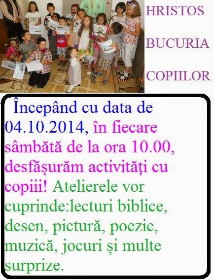 HRISTOS BUCURIA COPIILOR