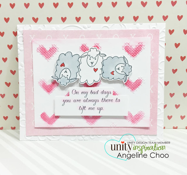 Unity Stamp: SOTW Reminder Lift me up with Angeline #unitystampco #scrappyscrappy #card #sotw