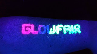 UV Glitter Tattoo under black light