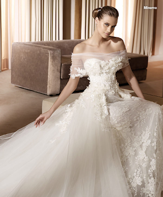 Elie Lace Flower Strapless Wedding Dresses