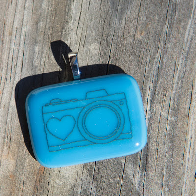 camera, fusography, fused glass, Sassy Glass Studio, Knoxville, TN, blue, sky