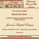 Unlimited Personal Usage License Joanne's Digital Designs