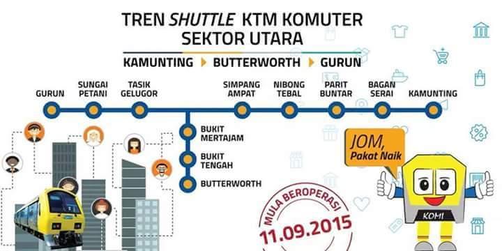 Tren Shuttle KTM Komuter Sektor Utara