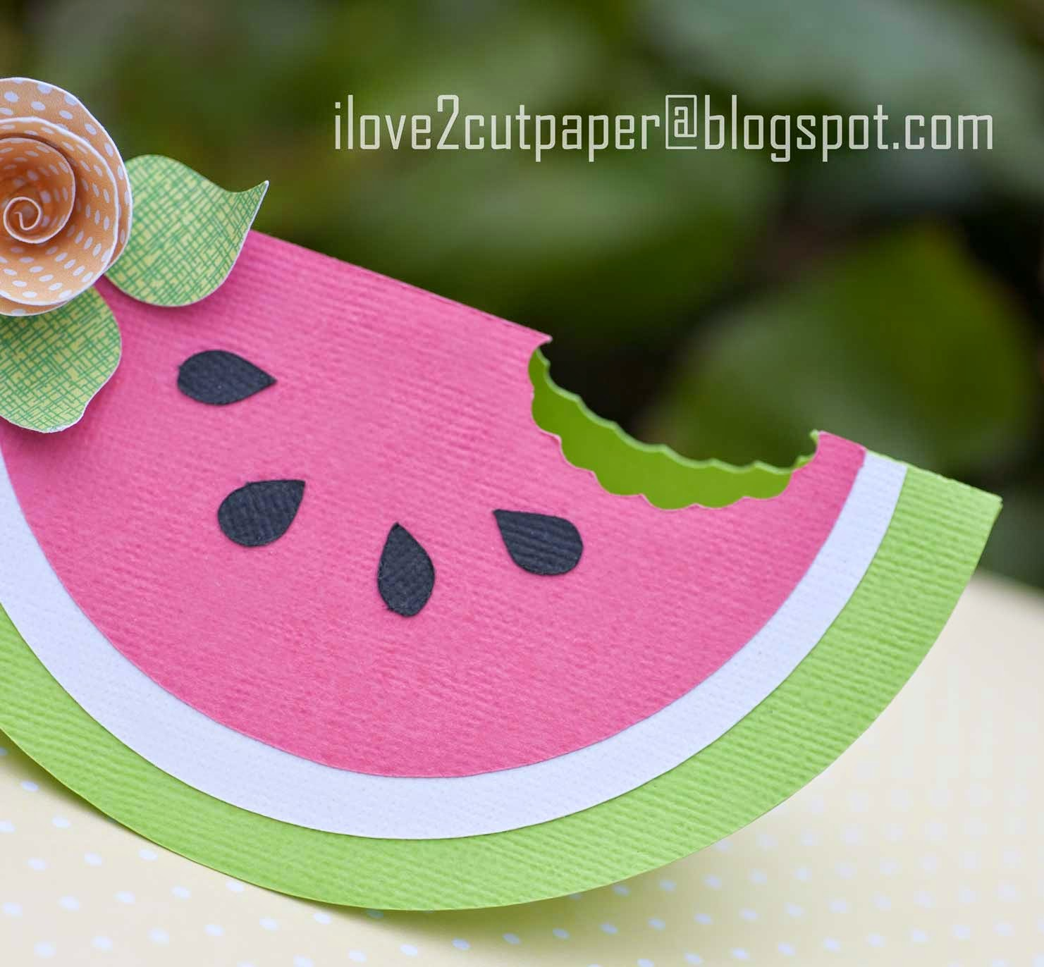 Watermelon shaped card