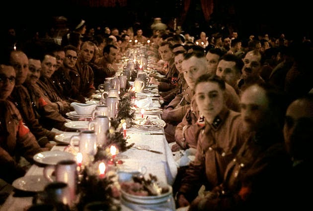 Christmas party by Hitler for his Generals,SS officers and cadets, Hitler Chrismas party