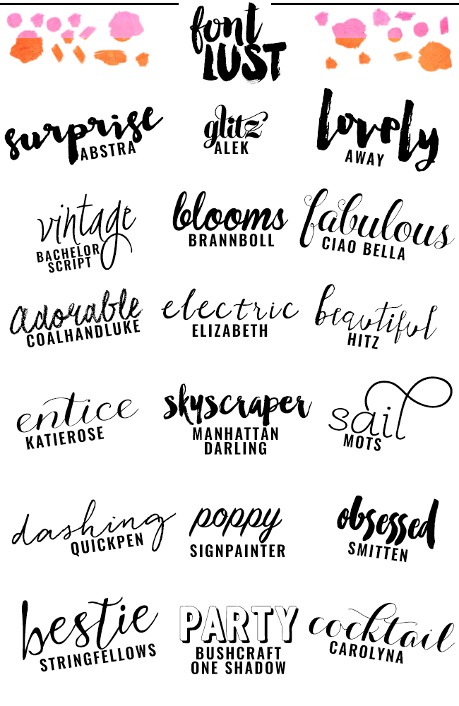 The Best Handwritten Script Fonts For Your Blog Venus Trapped In