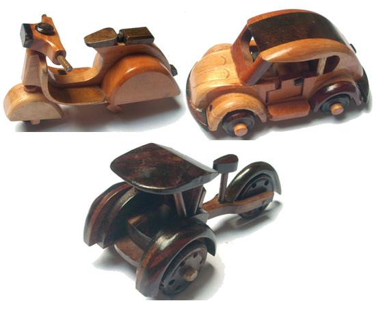 Kerajinan Kayu Antik Mobil-Mobilan Di Tegal Duwur