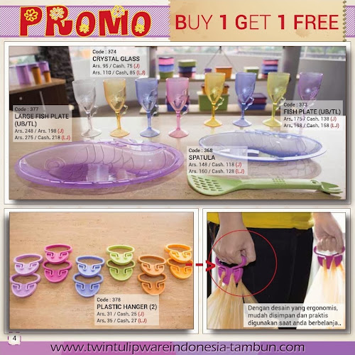 Promo Buy 1 Get 1 Free Tulipware | Maret - April 2014