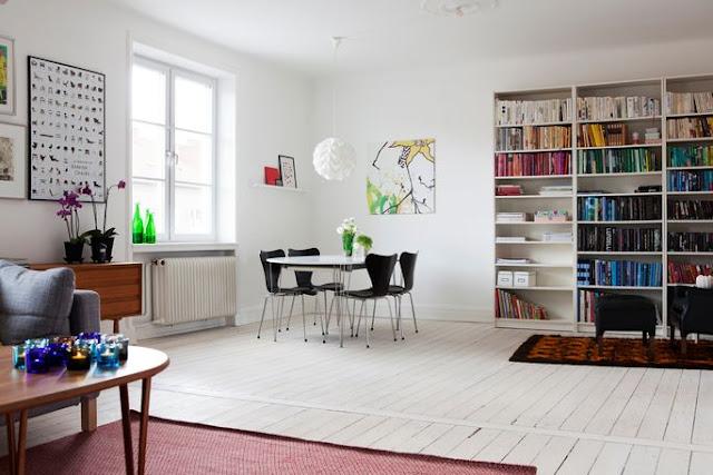 serie di immagini di interni scandinavi scovate tramite due blog ...