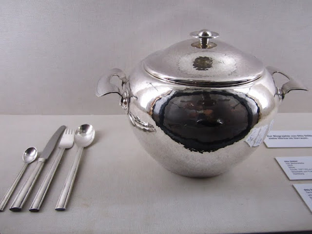Silver hollow ware at the Museum Fur Kunst Und Gewerbe in Hamburg, Germany.