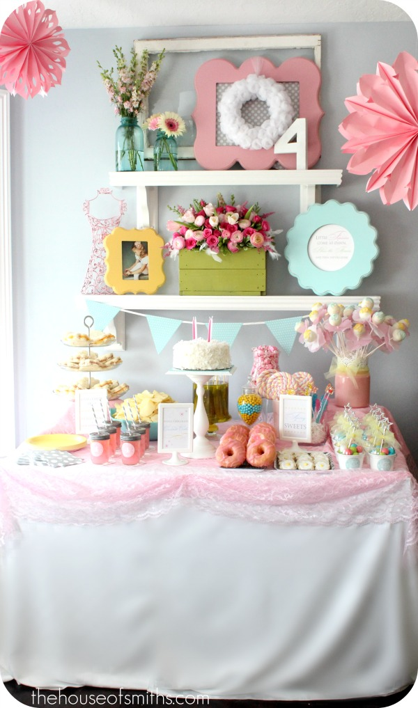 Fairy Ballerina Birthday Party - Girly Birthday Decorating Ideas!