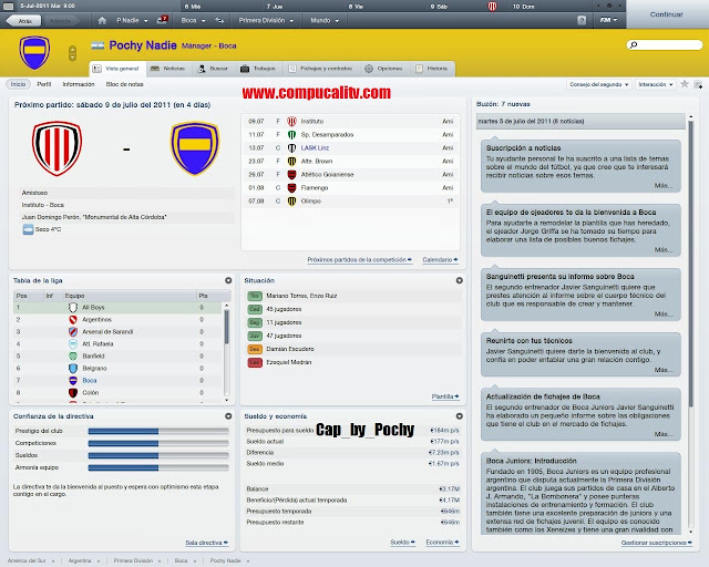 Capturas propias Football Manager 2012 Pc Full