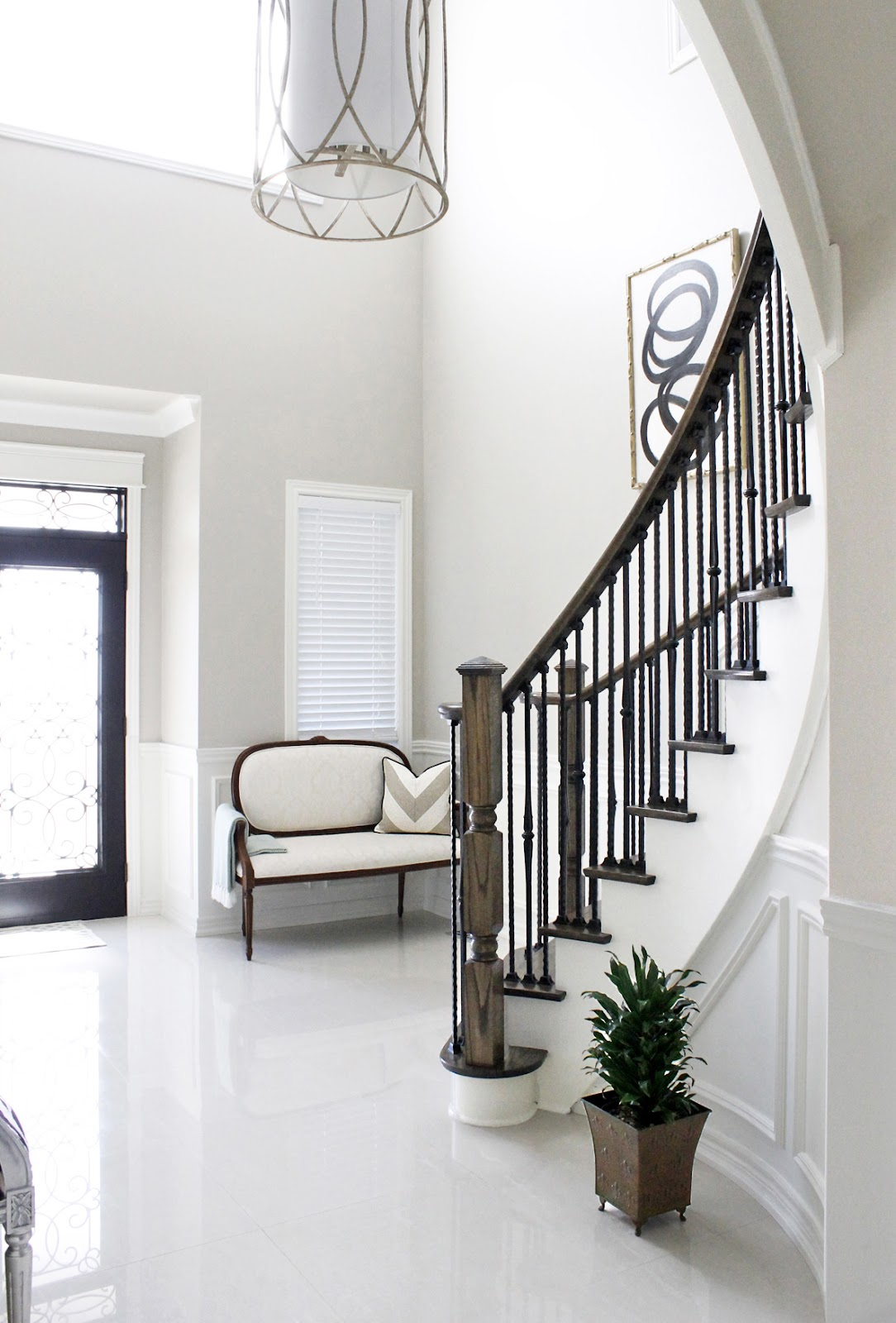 Foyer Staircase Images : Am dolce vita painted staircase reveal