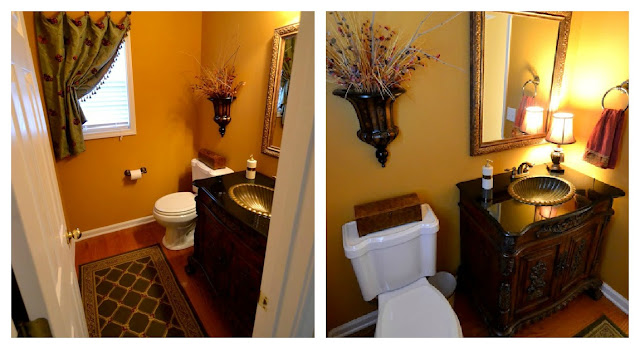 powder+room+collage Traditional style home tour in Central NC!