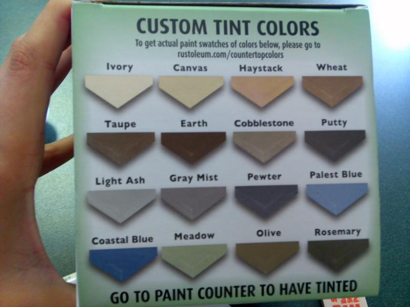 Countertop Paint Colors : the countertop color is now very close to the wall color. The color ...