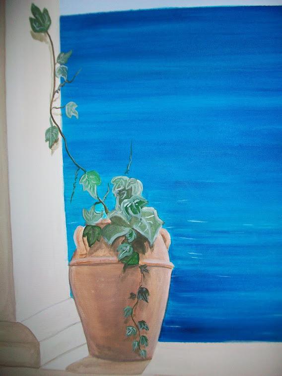Trompe l 39 oeil murales decorazione pareti camerette for Case ricoperte di edera