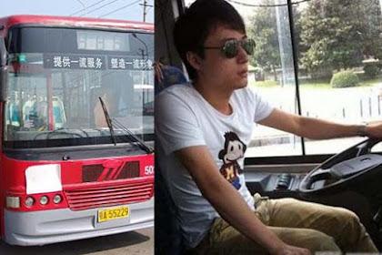 Berwajah Tampan, Sopir Bus ini Sering Terganggu Ketika Mengemudi