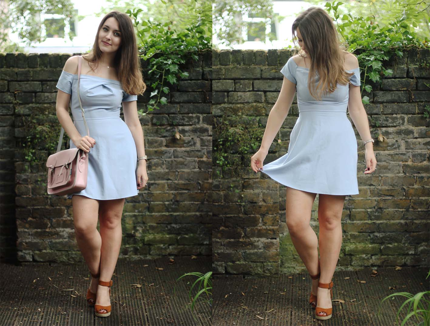 daisy kent blue in love with fashion dress topshop