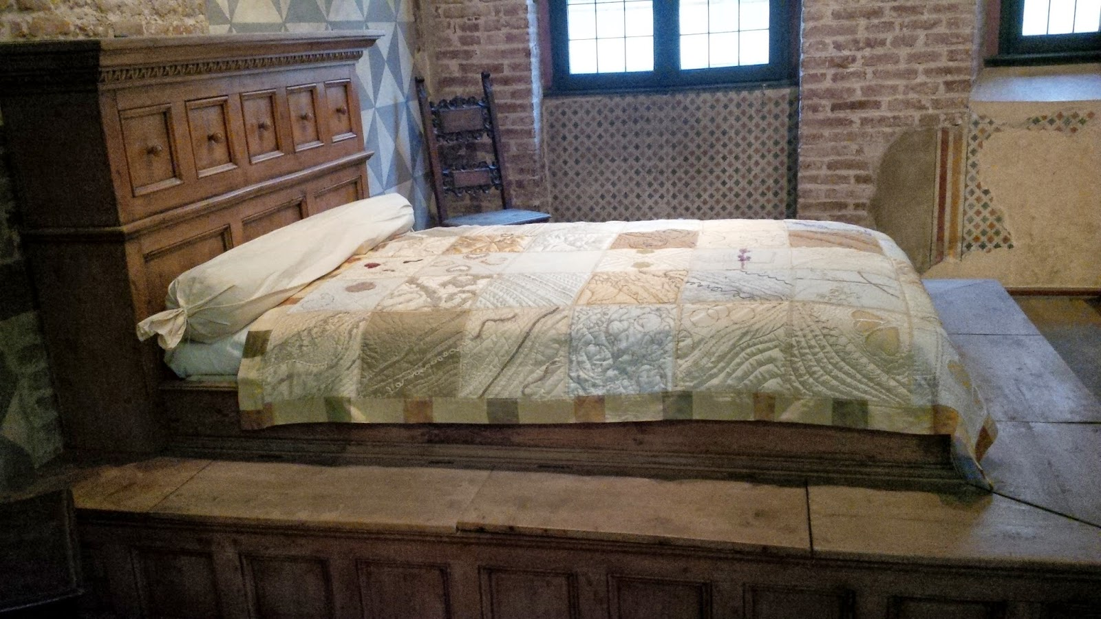 The bed used in Franco Zeffirelli's film 'Romeo and Juliet' in 1968