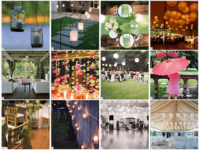 Outdoor Vintage Wedding Reception Decorations Pictures