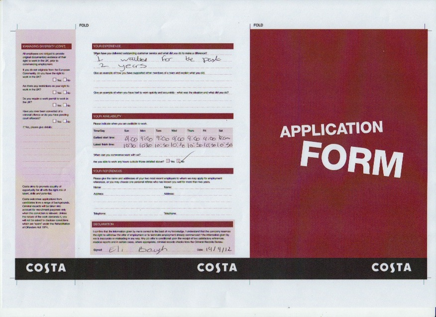 Ac 21 Complete Letters Of Application Curriculum Vitae And