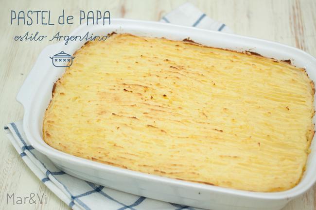 Pastel de papa,estilo Argentino