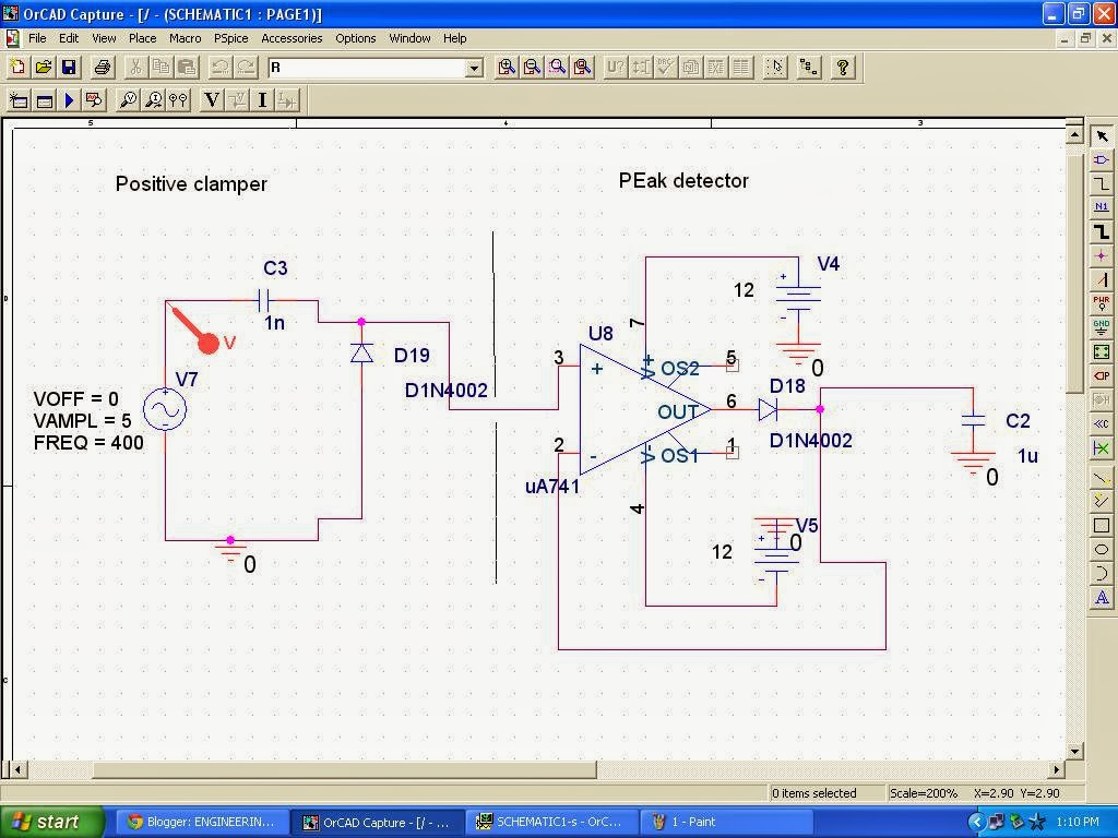 Signals And Systems Voltage Doubler Using Positive Clamper Peak Dc Circuit Here Is The