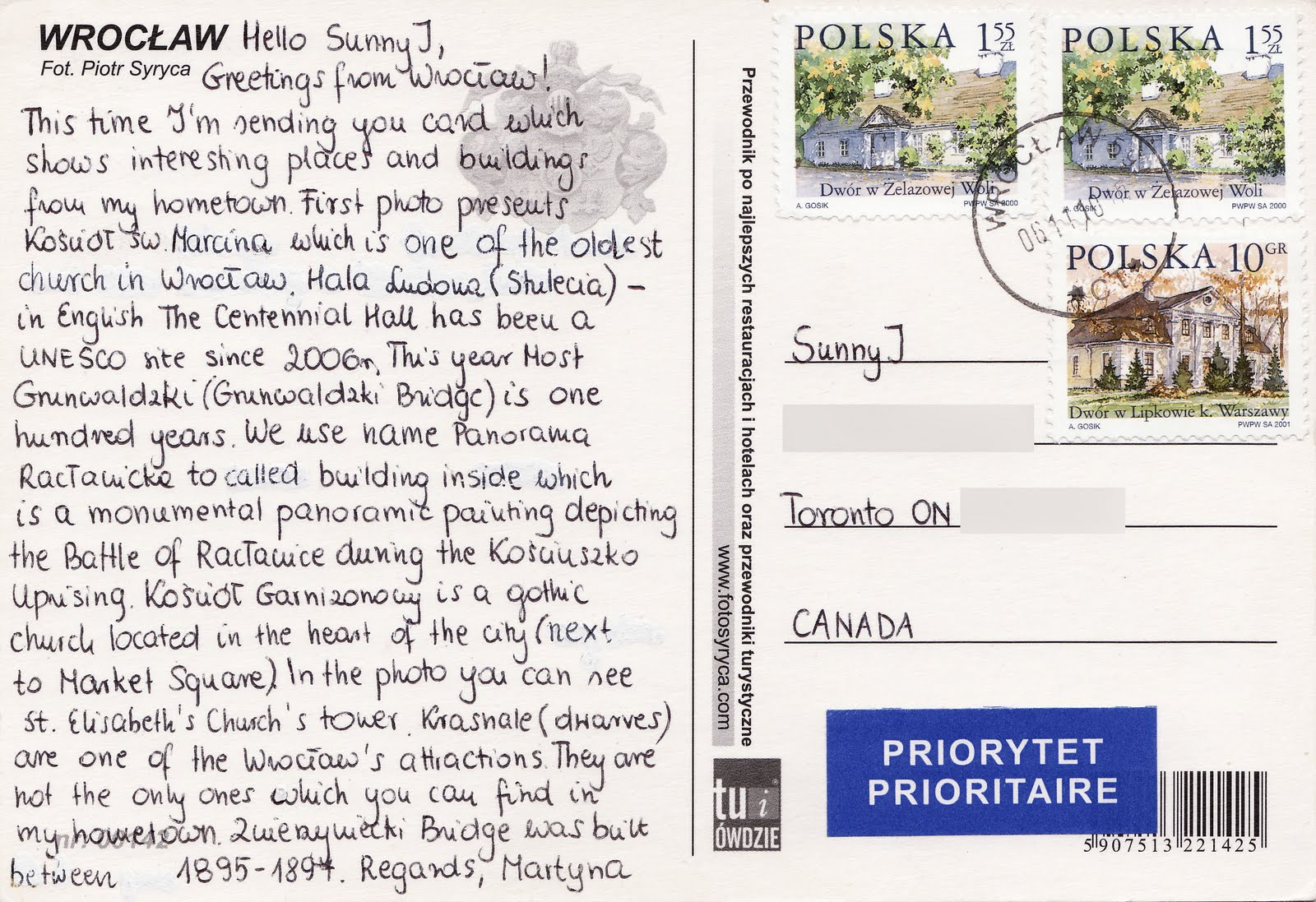 More Greetings From Wroclaw Poland Sunny Js Postcard Blog