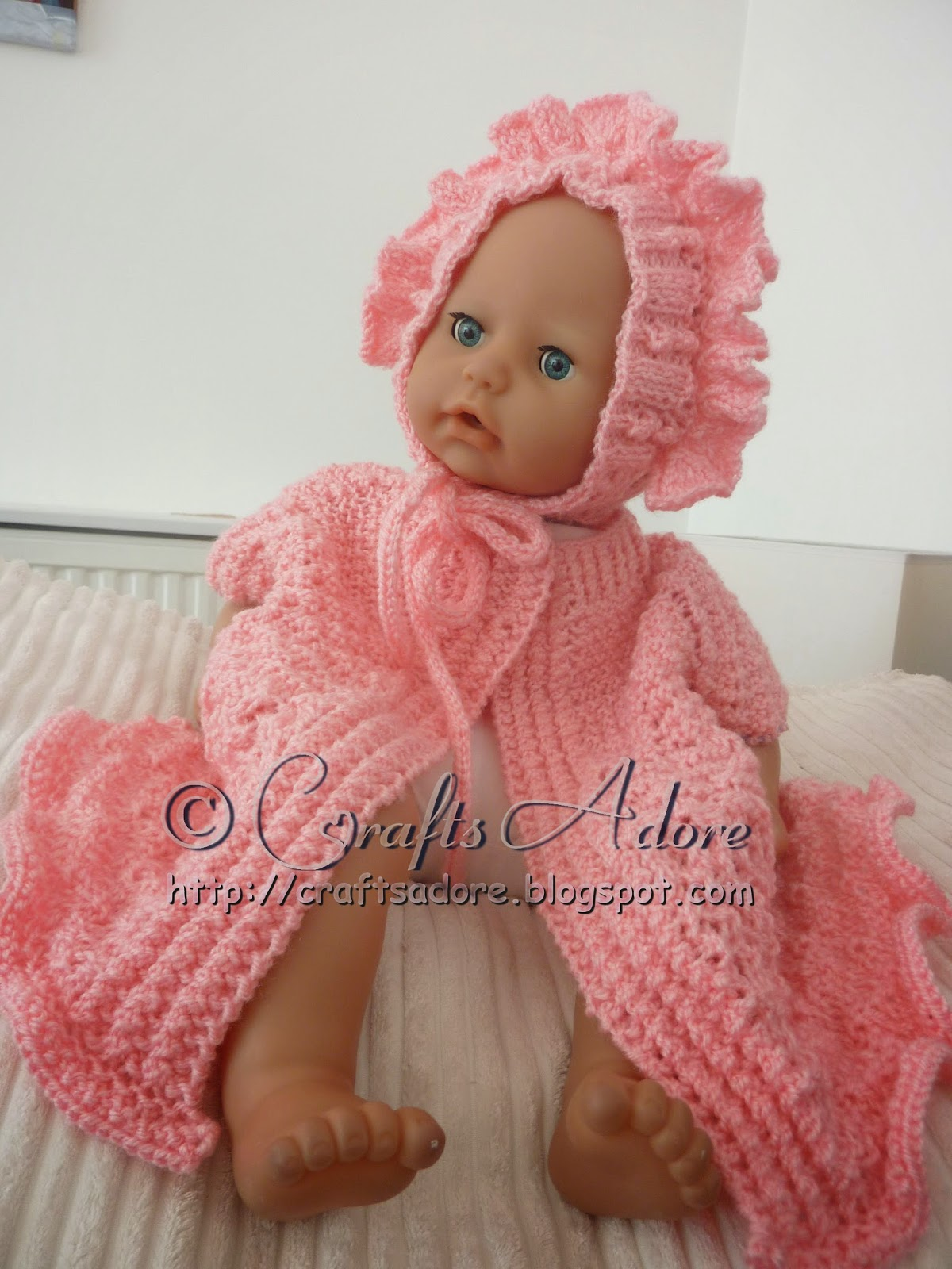 CraftsAdore: Knitted Baby Girl Layette Free Knitting Pattern