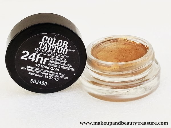 Maybelline Color Tattoo 24hr Eyeshadow Review