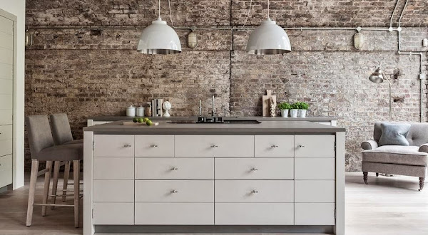 Cocina rectangular decorar tu casa es for Decoracion clasica contemporanea