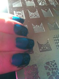 Stamping plate nailart CK-01