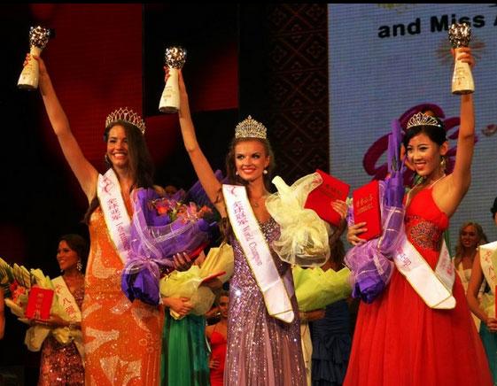 Miss All Nations 2012 winners Sanja Urosevic, Daria Patkova and Fay Li