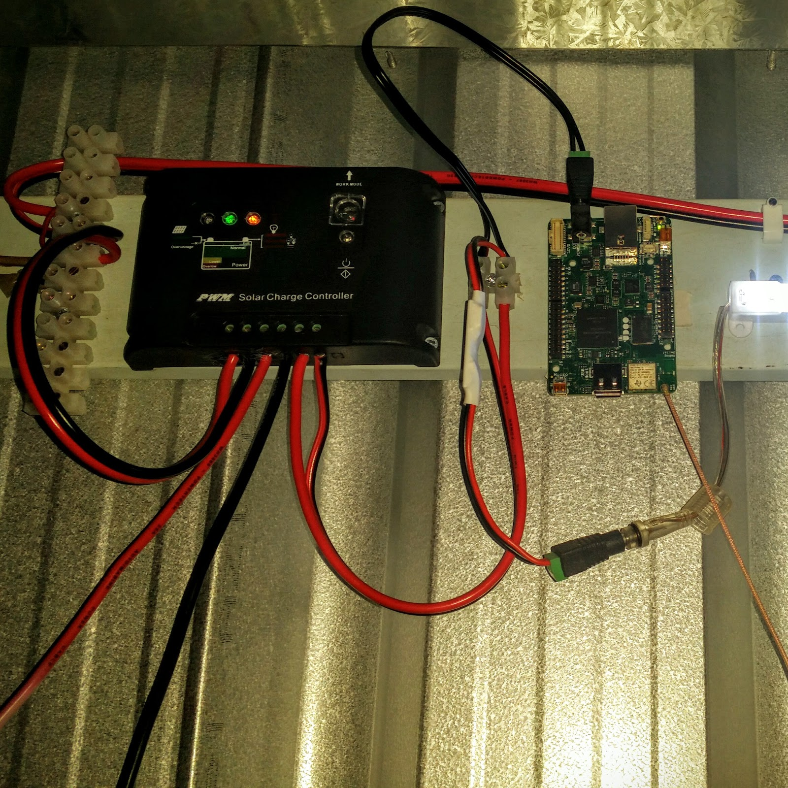 Confused Life Reloaded The Shed Solar Project With Udoo Neo How To Wire A For Electricity Wiring So I Have Hooked Up Tplink External Antenna And Placed Mods An There More Related Posts Follow