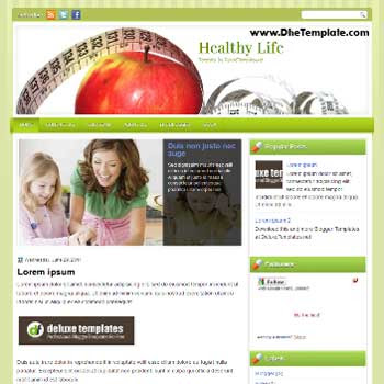 Healthy Life blogger template. magazine style template blogger. featured content blogger template. template blog healthy blog