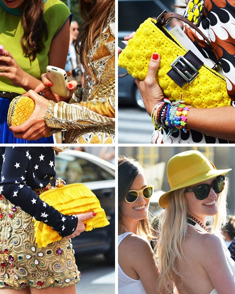 giallo colore dell'estate 2014 abbinamenti con il colore giallo come abbinare il giallo outfit in giallo immagini di outfit in giallo street style giallo how to wear yellow fashion blogger italiane colorblock by felym fashion blog di mariafelicia magno mariafelicia magno blogger di colorblock by felym borse gialle estate 2014 abiti gialli estate 2014 giallo street style primavera estate 2014 blog di moda colorblock by felym