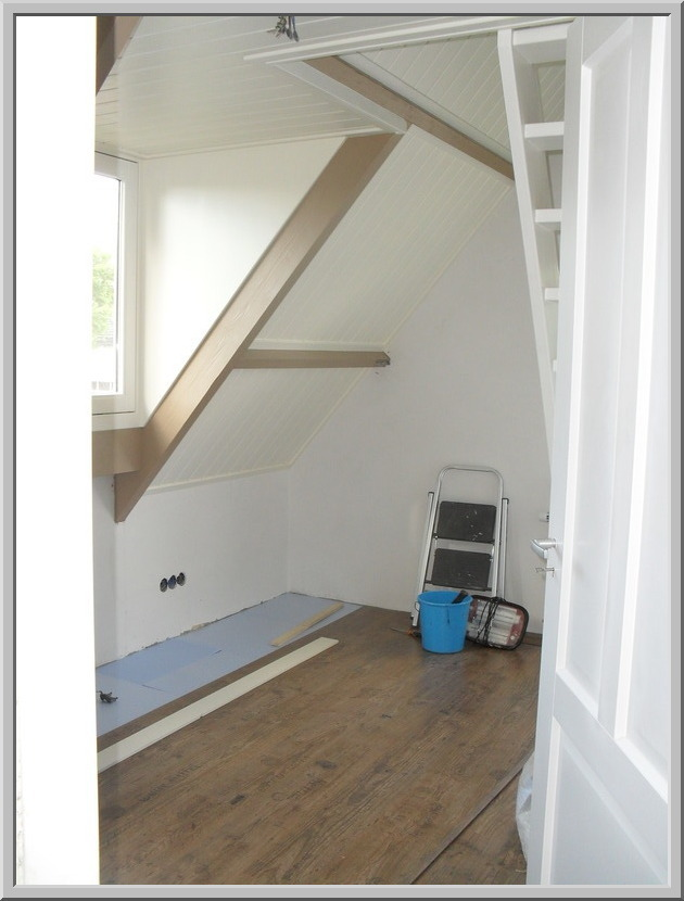 Verbouwen op zaterdag - Midden kamer trap ...