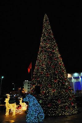 A Tirana acceso l'Albero di Natale 2011 (le foto)