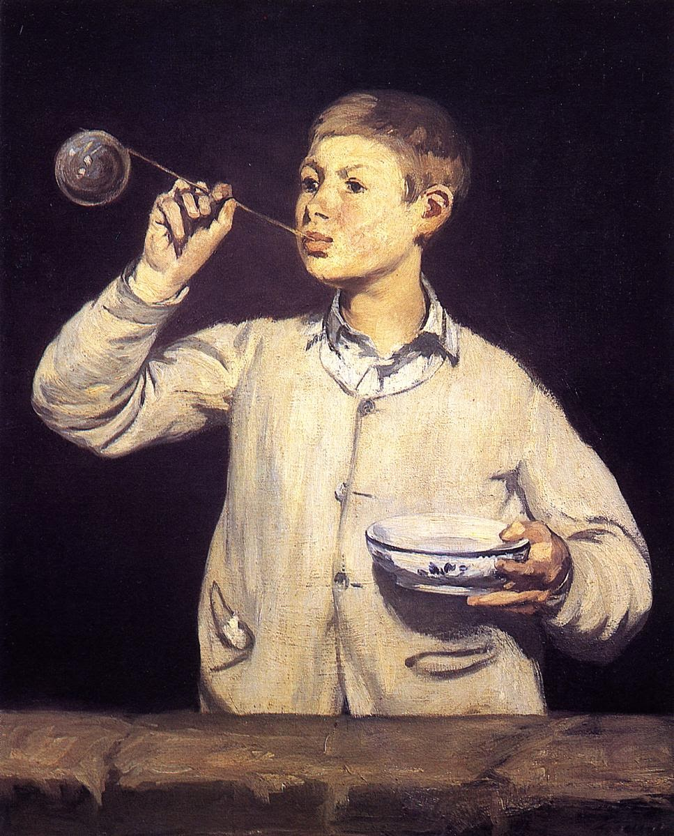 Boy Blowing Soap Bubbles Manet 1869 Boy Blowing Bubbles Oil