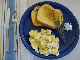 Carrie's Creations: Scrambled Eggs with Herb Cream Cheese