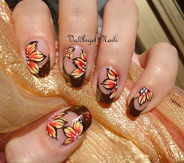 "Thatleanne Firey Autumn Leaves Nail Art: ValAngel Nails Art: Nail Art ""Autumn Leaves"""