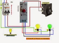 Conmutación de lamparas con temporizador