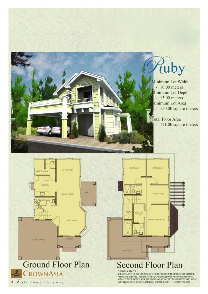 House and lot for sale in cebu and bohol floor plans of for City lot house plans